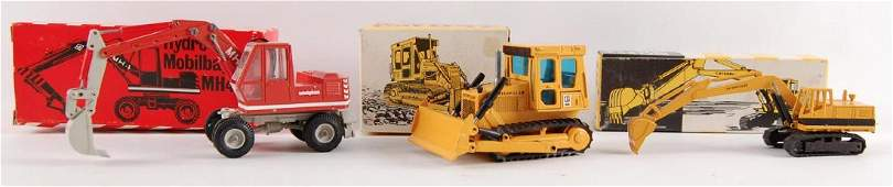 Group of 3 NZG DieCast Construction Vehicles in
