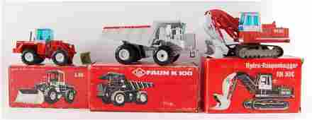 Group of 3 NZG OK DieCast Construction Vehicles in