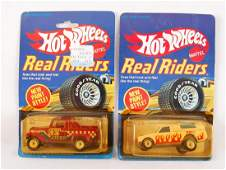 Group of 2 Hot Wheels Real Riders DieCast Cars in