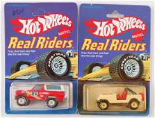 Group of 2 Hot Wheels Real Riders Die-Cast Cars in