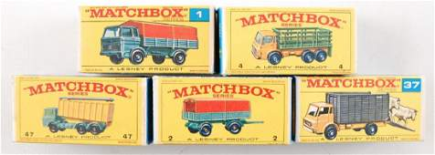 Group of 5 Matchbox Die-Cast Vehicles in Original Boxes