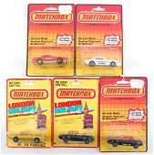 Group of 5 Matchbox Die-Cast Cars in Original Packaging