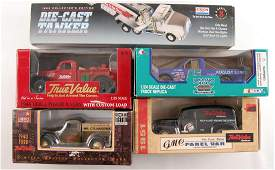 Group of 5 Die-Cast Advertising Delivery Truck Coin