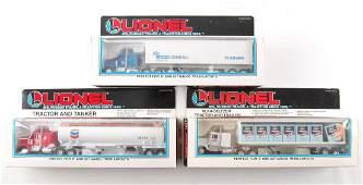 Group of 3 Lionel Die-Cast Advertising Semi Trucks in