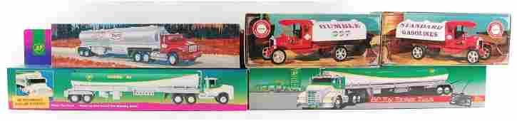 Group of 5 Advertising Die-Cast Semi Trucks in Original