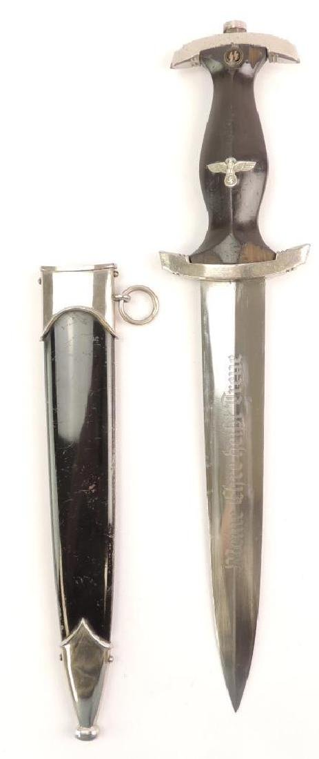 WW2 German SS Dagger with Scabbard - 3