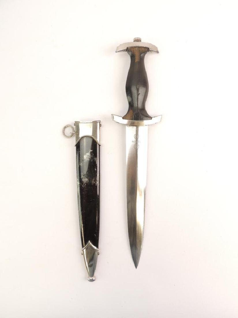 WW2 German SS Dagger with Scabbard - 5