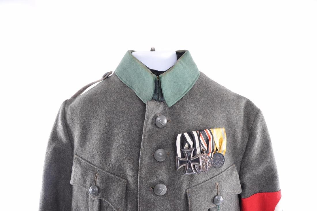 WW1/2 German Tunic with Medals, Bar, Patches, and - 2