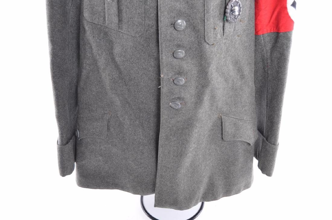 WW1/2 German Tunic with Medals, Bar, Patches, and - 6