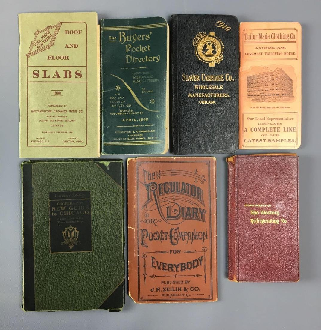 Lot of 7 antique pocket calendars and more