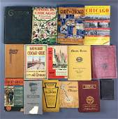 Lot of 15 antique Chicago guide books