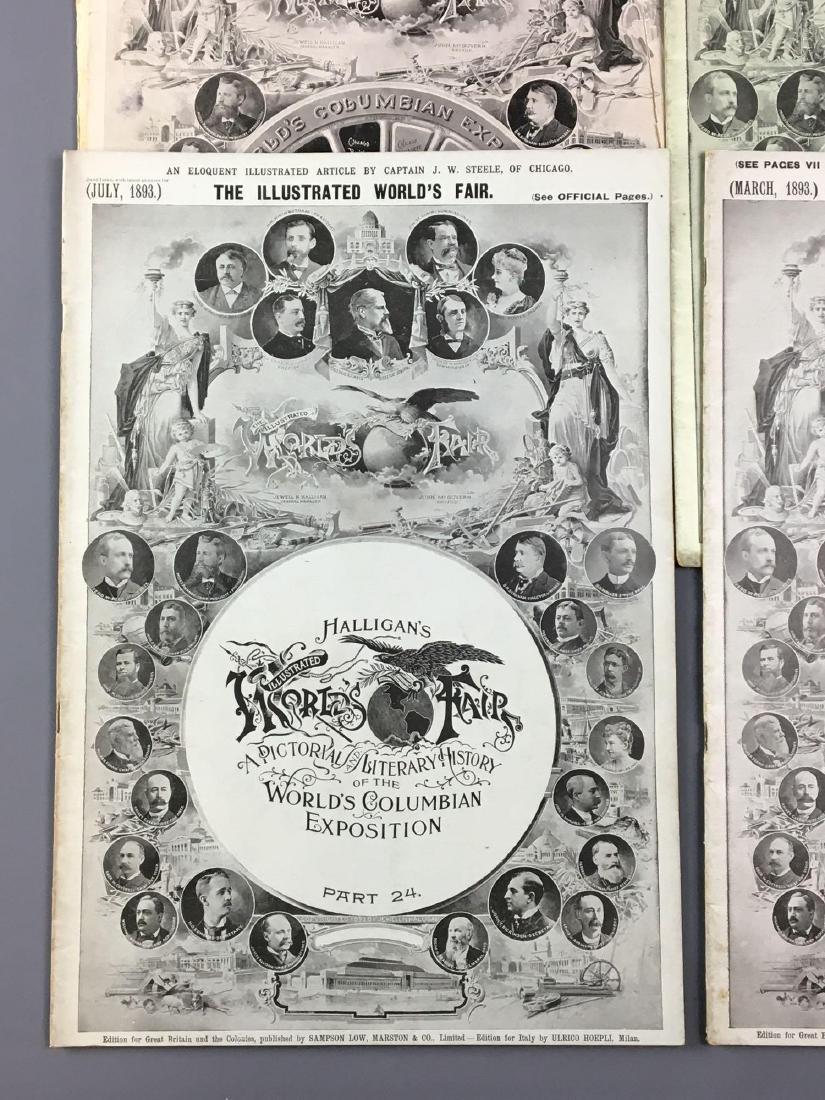 Lot of 9 antique Worlds Fair Chicago Illinois magazines - 6