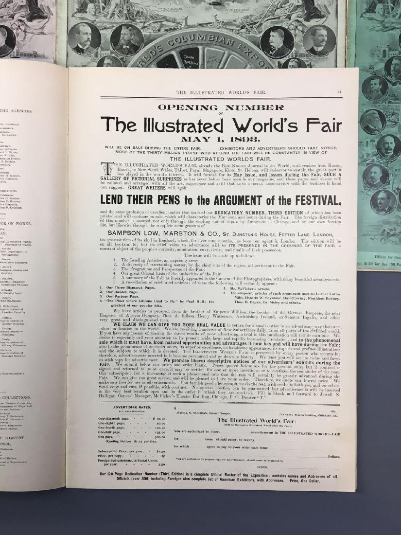 Lot of 9 antique Worlds Fair Chicago Illinois magazines - 8