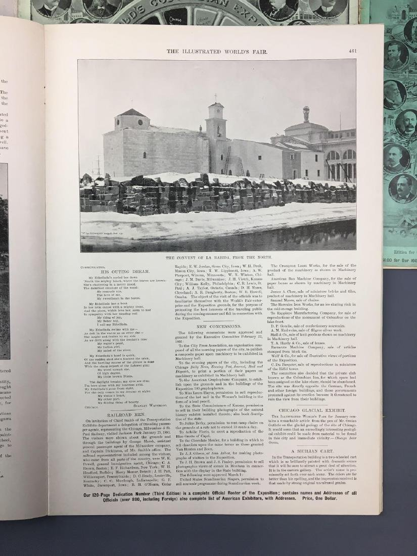 Lot of 9 antique Worlds Fair Chicago Illinois magazines - 9