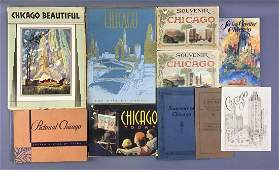 Lot of 10 antique Chicago Souvenir and Pictorial books