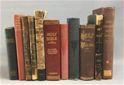Lot of 11 Bibles and more