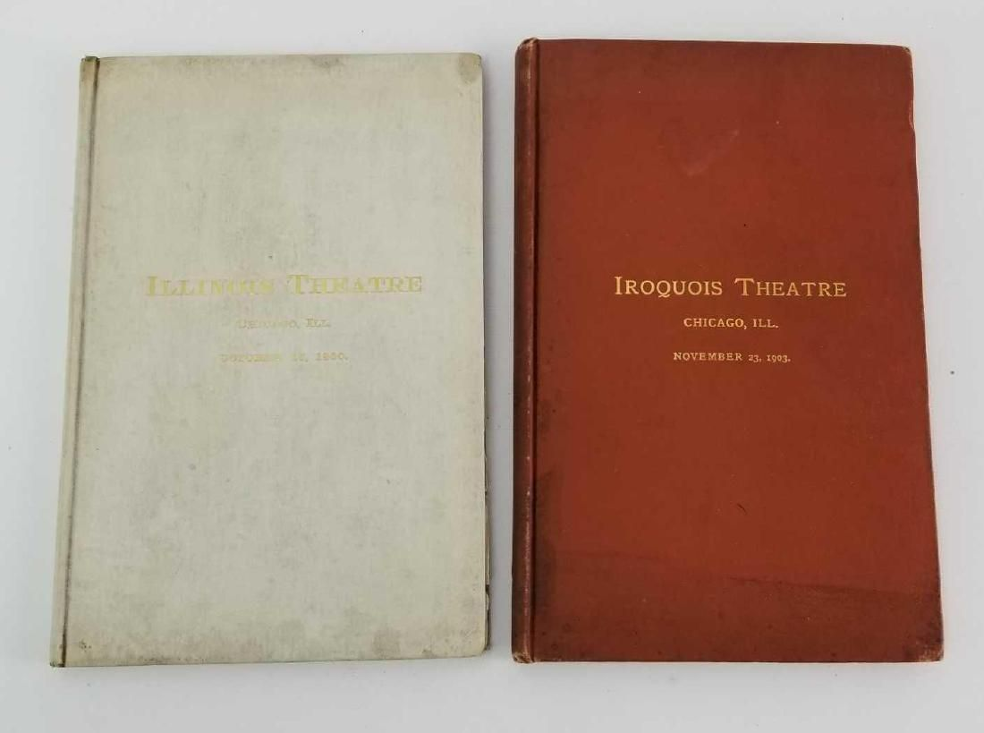 2 Antique Books from Theatres in Chicago