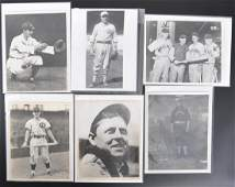 Group of 7 Chicago Cubs Press and Wire Photos