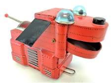 Vintage KO Japan Tin Robot Space Dog Friction Toy.