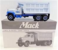 First Gear 1960 Mack B-Model Dump Truck Blue Diamond.