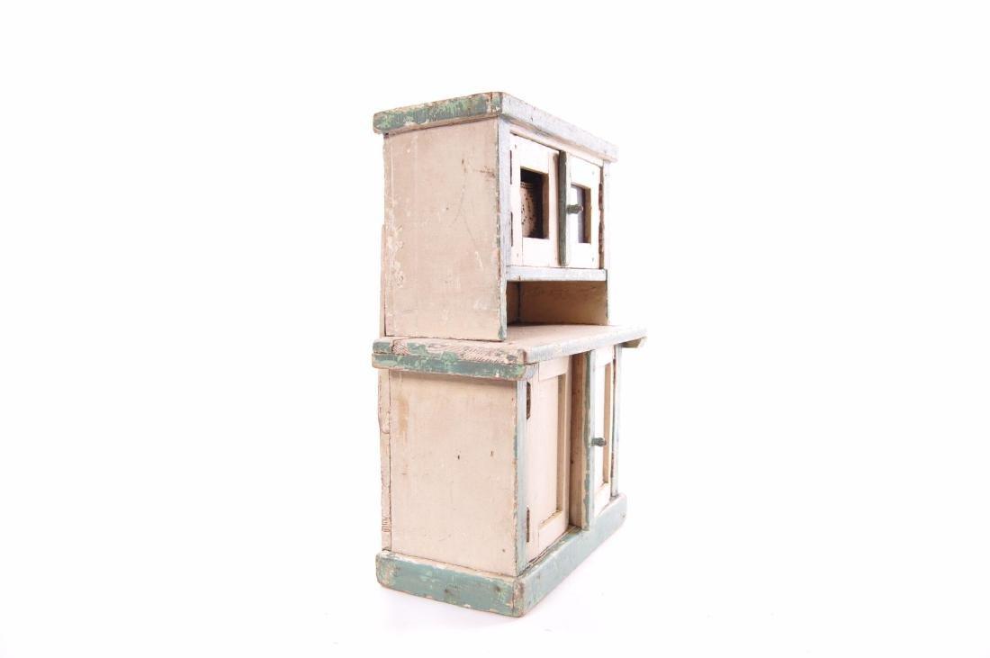 Antique Primitive Chipped Paint Child's Doll Kitchen - 3