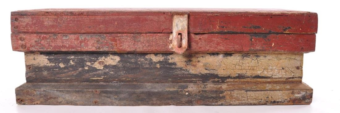 Antique Painted Tool Box