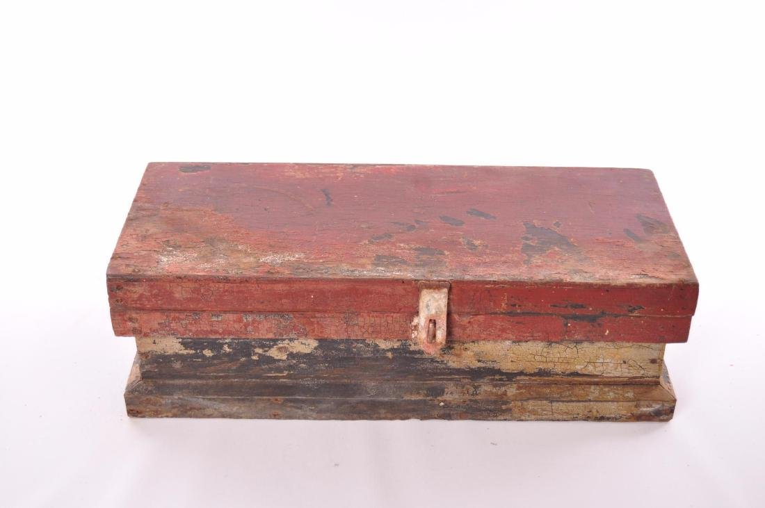 Antique Painted Tool Box - 2