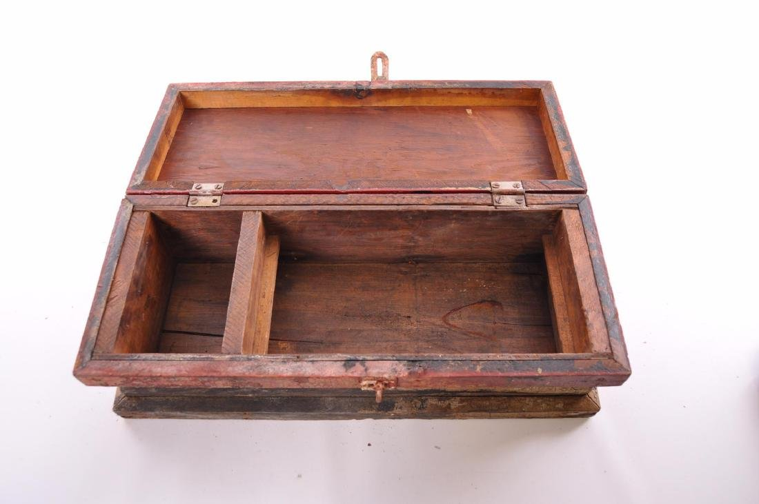 Antique Painted Tool Box - 4