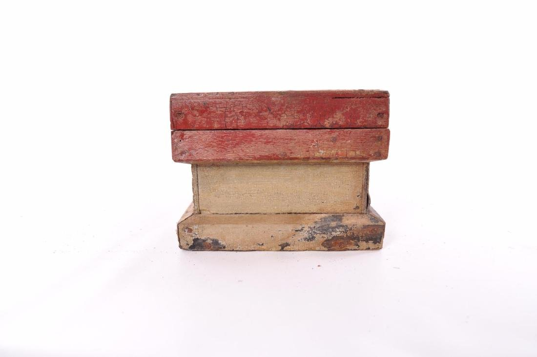 Antique Painted Tool Box - 5