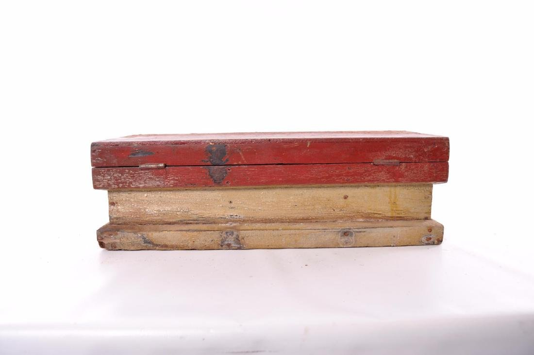 Antique Painted Tool Box - 6