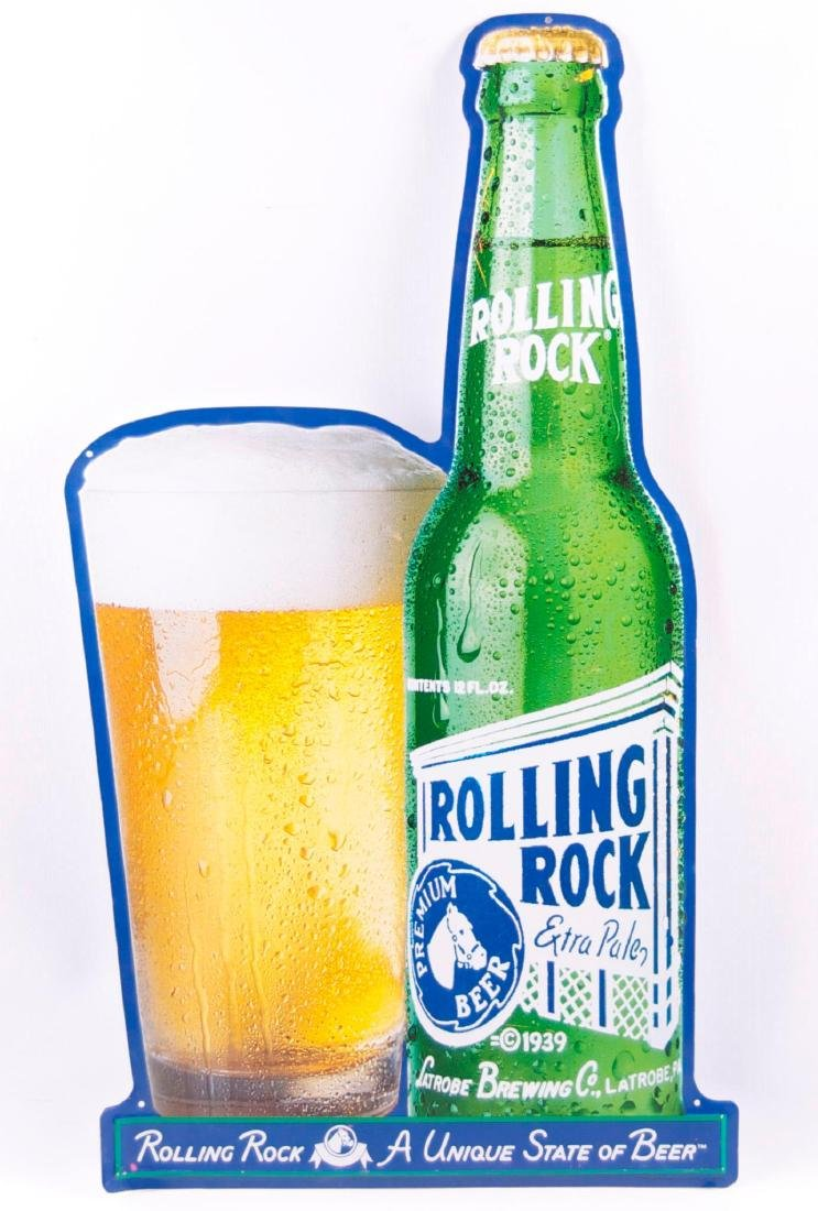 Rolling Rock Advertising Metal Sign