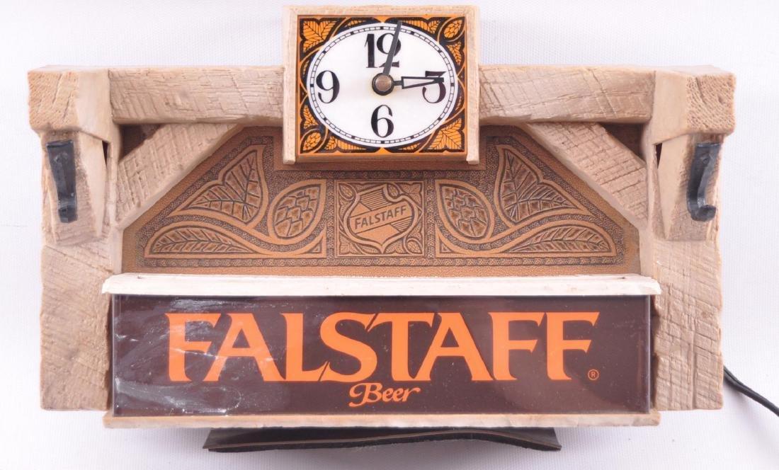Vintage Falstaff Beer Advertising Cash Register Topper