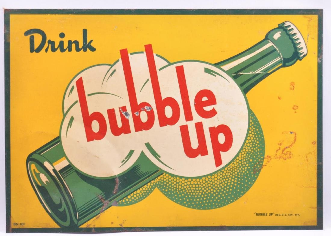 Vintage Bubble Up Advertising Metal Sign