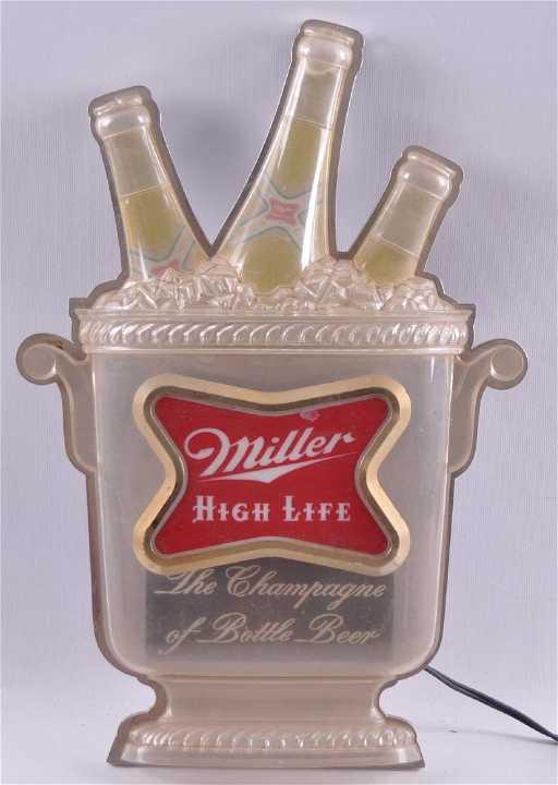 eb4482faee449 Vintage Miller High Life Light Up Advertising Beer Sign. placeholder