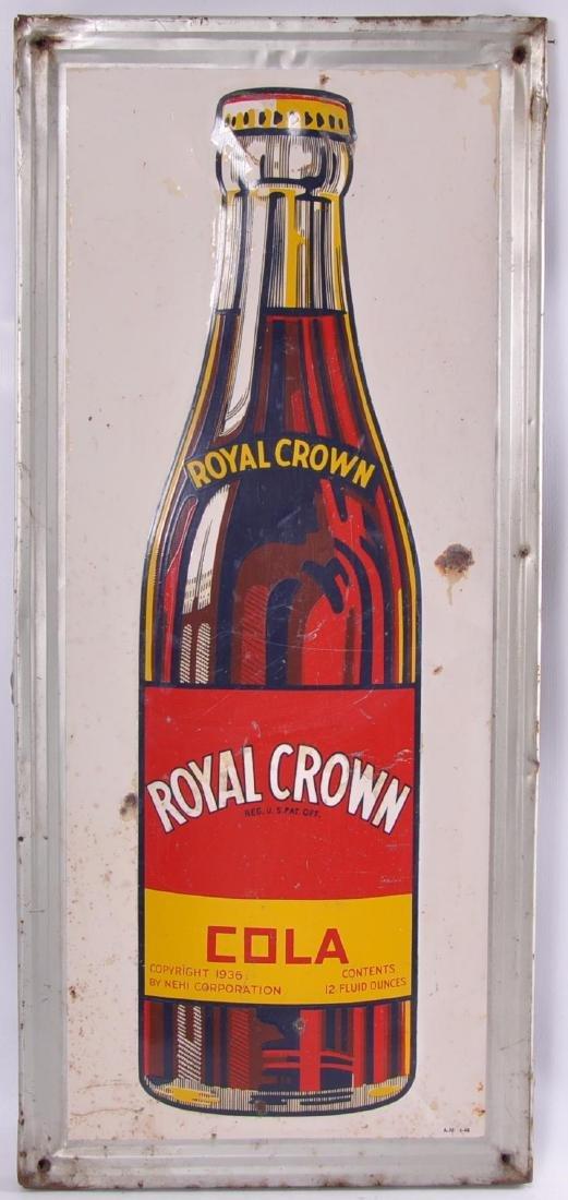 Vintage Royal Crown Cola Advertising Metal Sign