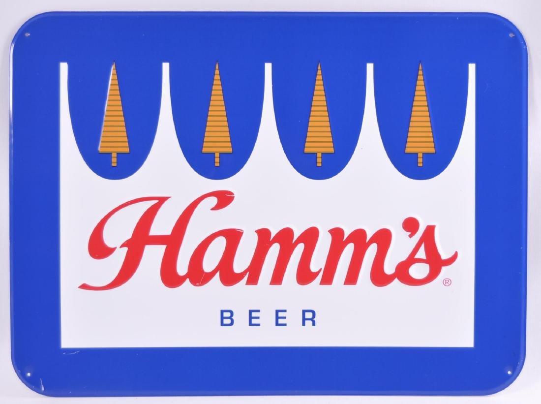 Modern Hamm's Beer Advertising Metal Sign