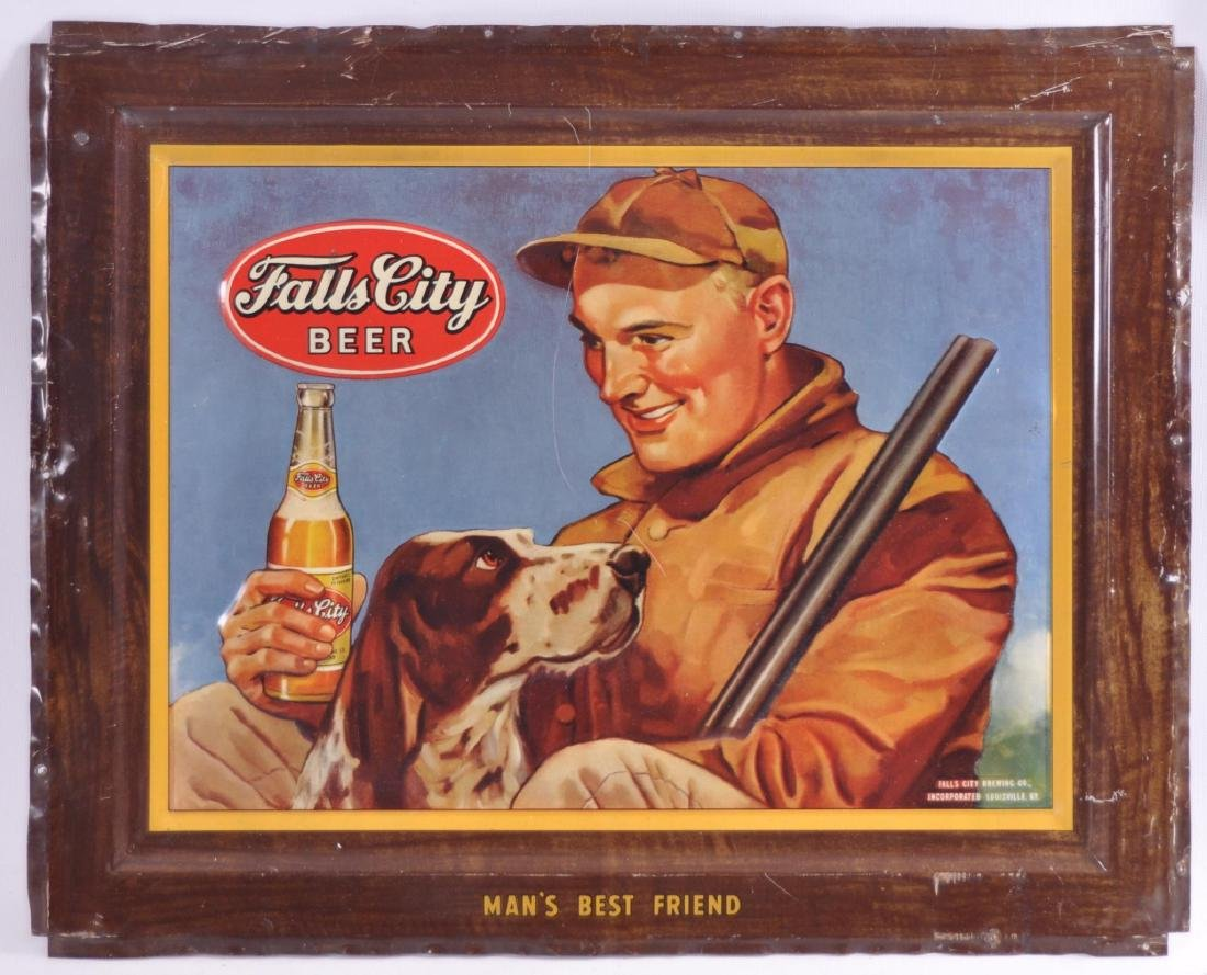 Vintage Falls City Beer Advertising Metal Sign