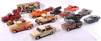 Group of 16 Die-Cast and Plastic Toy Cars