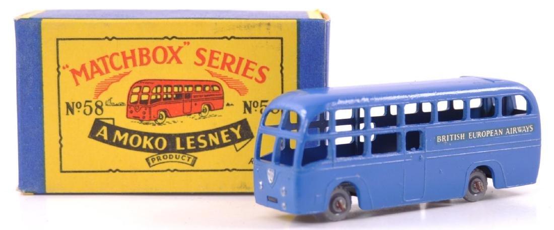 Matchbox No. 58 BEA Coach Die-Cast Bus with Original