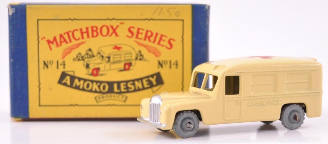 Matchbox No. 14 Daimler Ambulance Die-Cast Car with