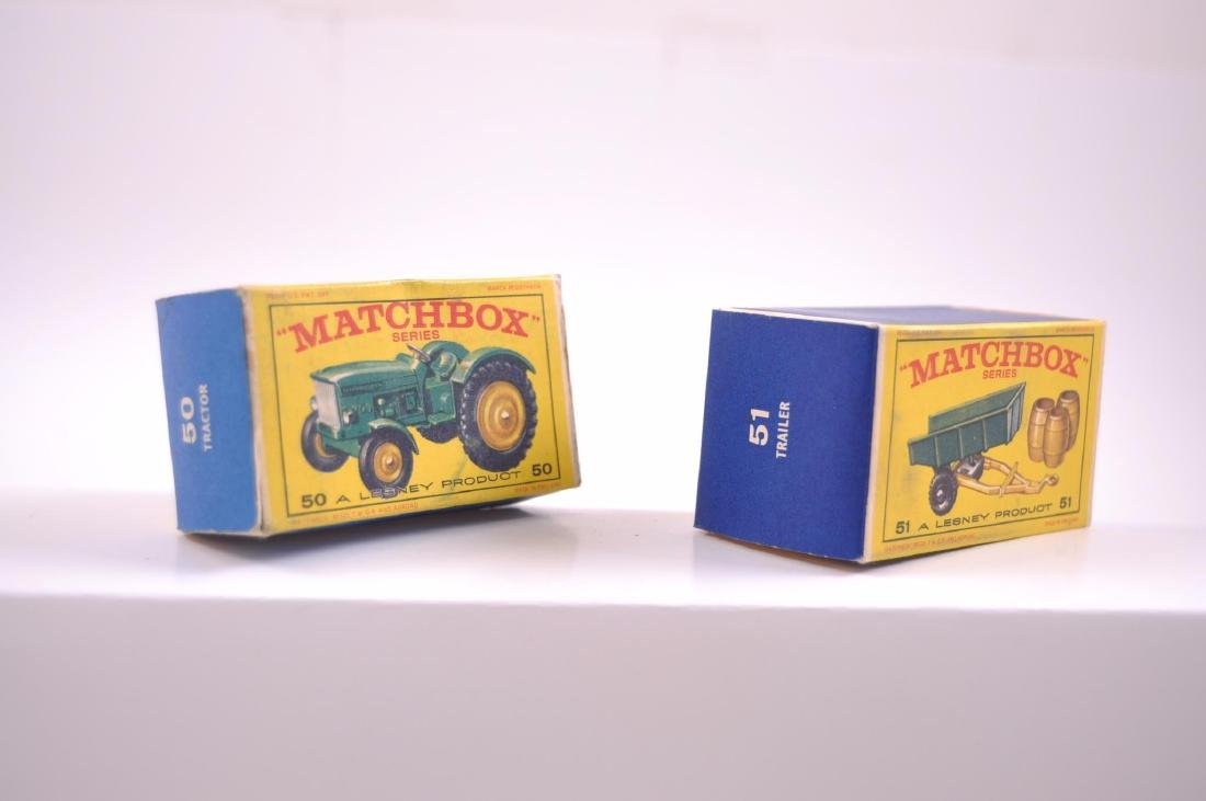 Group of 2 Matchbox Die-Cast Tractor and Trailer with - 8