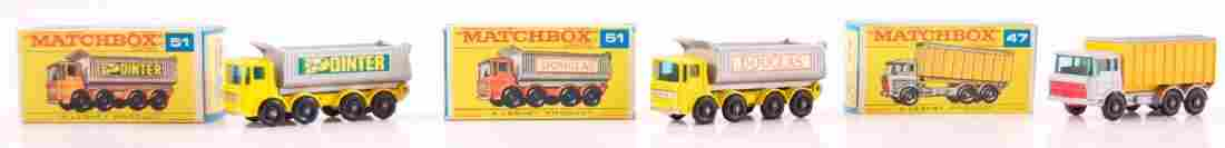 Group of 3 Matchbox Die-Cast Trucks with Original Boxes
