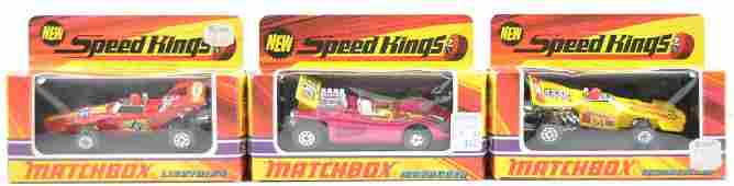 Group of 3 Matchbox Speed Kings Die-Cast Cars in