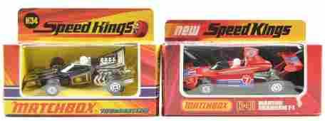 Group of 2 Matchbox Speed Kings Die-Cast Cars in