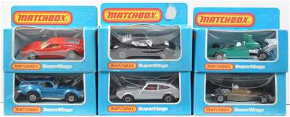 Group of 6 Matchbox Super Kings Die-Cast Vehicles in