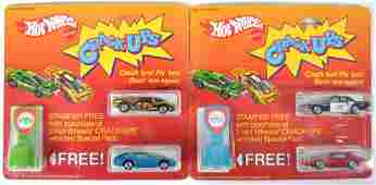 Group of 2 Hot Wheels Crack Ups Gift Sets with Free