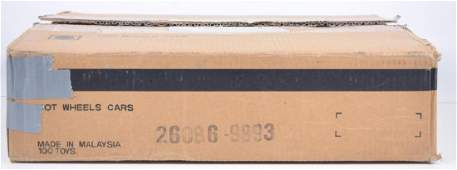 Full Shipping Box of Mattel Hot Wheels Die-Cast Cars