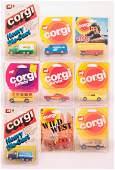 Group of 9 Corgi Junior Die-Cast Vehicles in Original