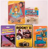 Group of 5 ERTL and Road Champs Die-Cast Vehicles in
