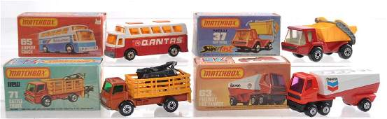 Group of 4 Matchbox Superfast Die-Cast Cars with